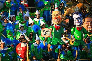 Silvio Berlusconi and Romano Prodi masks, Carnival 2007, Viareggio, Tuscany, Italy