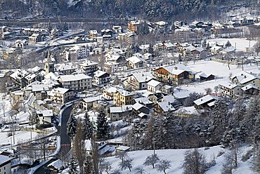 Cityscape, Antey Saint André, Valle d'Aosta, Italy
