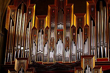 Organ, Catedral de Nuestra Senora de la Almudena, Madrid, Spain, Europe