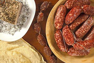 Sausage and lard, Italy
