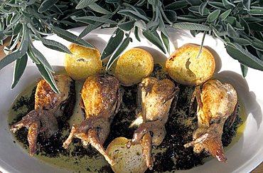 Roast quails, Italy