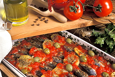 Pilchards with tomatoes, Italy