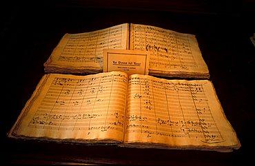 Rossini score, Palazzo Olivieri-Machirelli, Pesaro, Marche, Italy