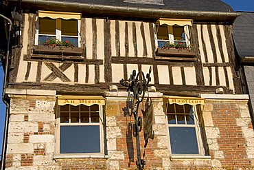 Half-timbered house, Honfleur, Normandy, France, Europe