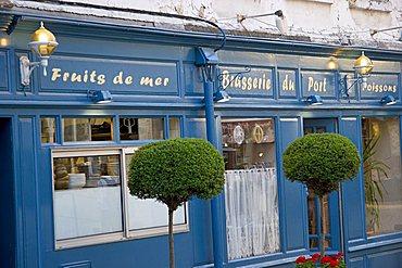 Restaurant, Honfleur, Normandy, France, Europe