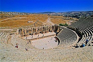 Roman theatre, Jerash, Jordan, Middle East