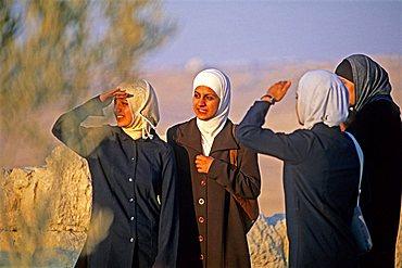 Women, Nebo mountain, Jordan, Middle East