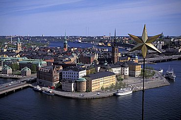 Panoramic view of the old town, Stockholm, Sweden, Europe