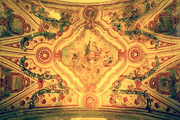 Ceiling, Santa Sofia Church, Giugliano, Campania, Italy