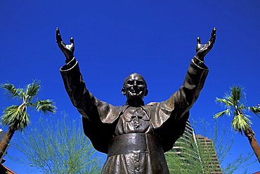 Pope Giovanni Paolo II statue, Phoenix, Arizona, United States of America, North America