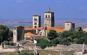 Cityscape from Alcazaba (fortress), Trujillo, Extremadura region, Spain, Europe
