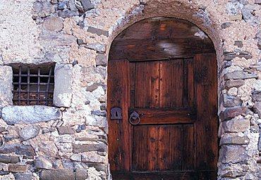 Typical house, Alta Badia, Trentino Alto Adige, Italy