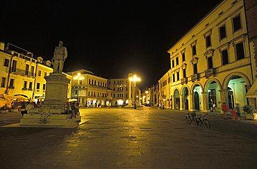 Emanuele II square, Rovigo, Veneto, Italy
