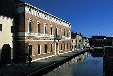 Foreshortening of Comacchio, Emilia Romagna, Italy