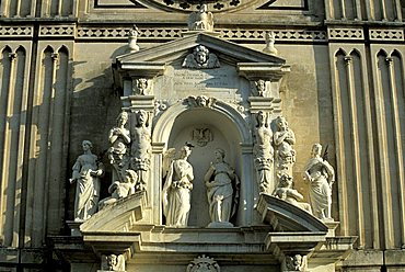 Particular of façade, Cathedral, Acireale, Sicily, Italy