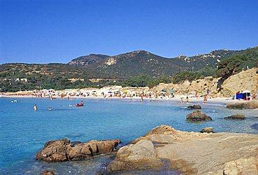 Porto Tramatzu beach, Teulada, Sardinia, Italy