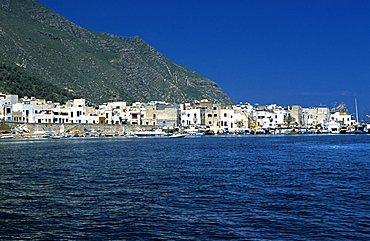 Cityscape, Marettimo island, Egadi islands, Sicily, Italy