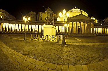 San Francesco di Paola church, Plebiscito square, Naples, Campania, Italy