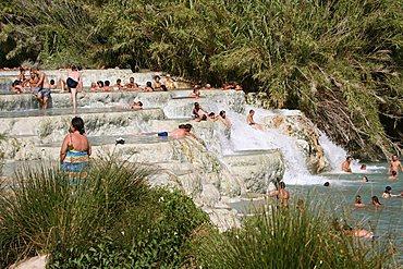 Mill waterfall, Saturnia, Tuscany, Italy
