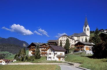 Cityscape, La Valle, Val Badia, Trentino Alto Adige, Italy