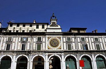 Orologio palace, Loggia square, Brescia, Lombardy, Italy