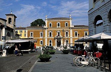 University palace, Mercato square, Brescia, Lombardy, Italy.
