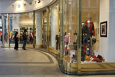 Shop windows, Roma street, Turin, Piedmont, Italy