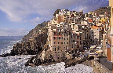 Seaside, Riomaggiore, Ligury, Italy