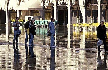 Water at flood level, Venice, Veneto, Italy
