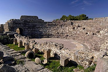 Theatre, Nora Roman ruins, Pula, Sardinia, Italy, Europe