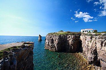 Le Colonne stacks, Carloforte, Sardinia, Italy, Mediterranean, Europe