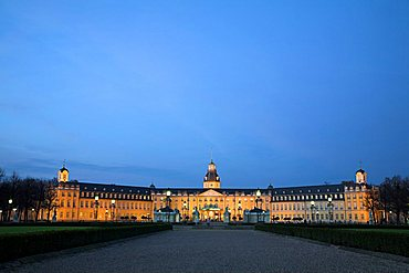 Karlsruhe Palace (Schloss), Karlsruhe, Baden-Wurttemberg, Germany, Europe