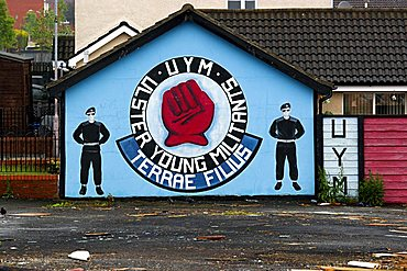 Mural on Shankill Road, Belfast, Northern Ireland, United Kingdom, Europe