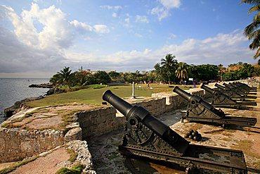 Cannons, San Carlos de la Cabana fortress, Havana, Cuba island, West Indies, Central America