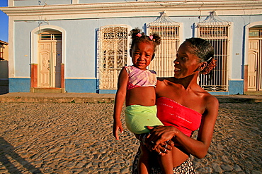 Child with her mum, Trinidad, Cuba, West Indies, Central America