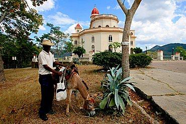 Apse side, Virgen de la Caridad del Cobre sanctuary, Santiago de Cuba, Cuba, West Indies, Central America