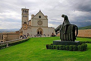 Basilica di San Francesco, UNESCO World Heritage Site, Assisi, Umbria, Italy, Europe