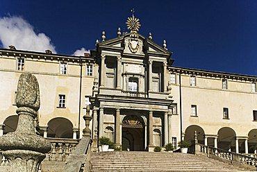 Porta Regia monumental portal, Sanctuary, Oropa, Piedmont, Italy, Europe