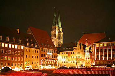 Sant Sebaldus church, Nurnberg, Bavaria, Germany, Europe