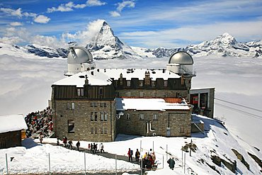 Observatory, Gornergrat, Zermatt, Valais, Switzerland, Europe