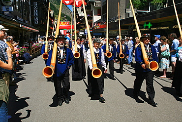 Folklore, Zermatt, Valais, Switzerland, Europe