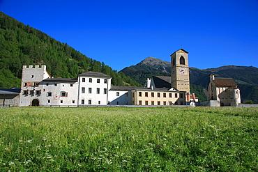 St. Johann Mustair monastery, Mustair, Val Monastero, Bassa Engadina, Switzerland, Europe