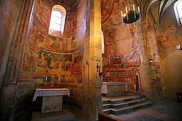 Church, St. Johann Mustair monastery, Mustair, Val Monastero, Bassa Engadina, Switzerland, Europe