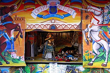 Puppet-Theatre, Palermo, Sicily, Italy, Europe
