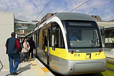 Valle Seriana streetcar, Alzano Lombardo, Lombardy, Italy