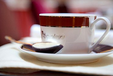 Coffee cup, Grand Hotel Continental, Siena, Tuscany, Italy