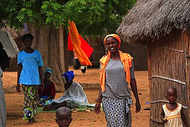 Village on the outskirts of Touba, Republic of Senegal, Africa