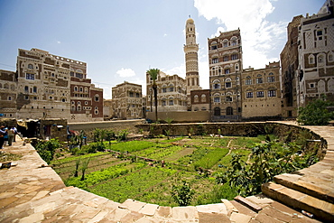 Village view, Old Sana'a, Yemen, Middle East