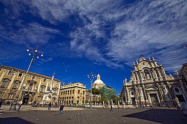 Municipal Building, Duomo square, Catania, Sicily, Italy, Europe
