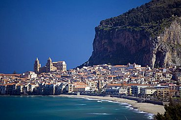 Village view, Cefalu, Sicily, Italy